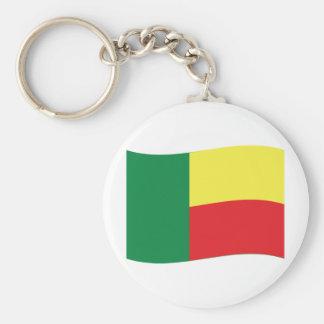 benin flag icon basic round button keychain