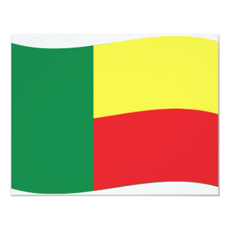 benin flag icon card