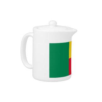 Benin Flag Teapot
