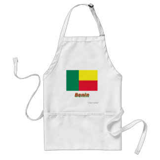 Benin Flag with Name Adult Apron