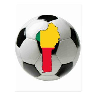Benin national team postcard