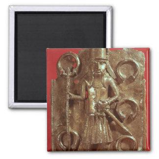 Benin plaque 2 inch square magnet