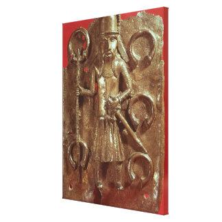 Benin plaque canvas print
