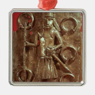 Benin plaque metal ornament