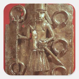 Benin plaque square sticker