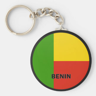 Benin Roundel quality Flag Basic Round Button Keychain