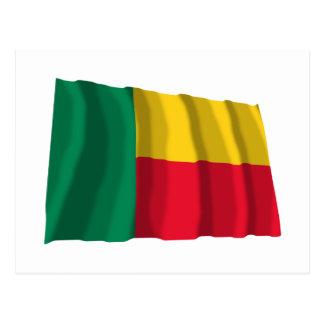 Benin Waving Flag Postcard