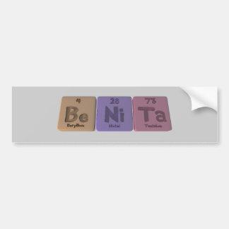 Benita como tantalio del níquel del berilio pegatina para auto
