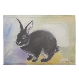 Benjamin 1. Rabbit placemat by Marie Theron