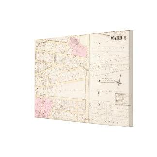 Benjamin Allen Plat y mapa del atlas de James Fenn Impresiones De Lienzo