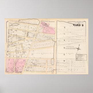 Benjamin Allen Plat y mapa del atlas de James Fenn Impresiones