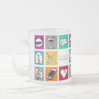 """benjamin bannister """"Cube"""" Frosted Glass Coffee Mug"""