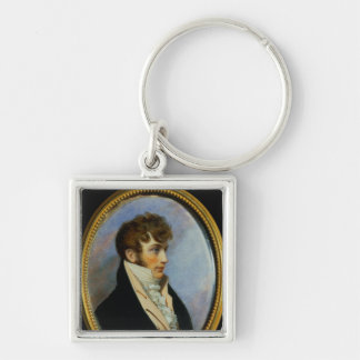 Benjamin Bathurst Silver-Colored Square Keychain