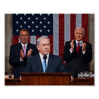 Benjamin (Bibi) Netanyahu Speaks Before Congress Poster