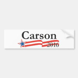 Benjamin Carson para el presidente 2016 Pegatina De Parachoque