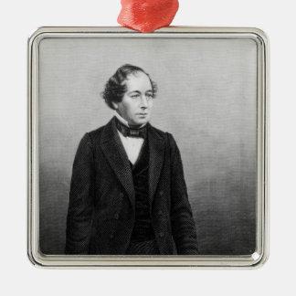 Benjamin Disraeli Metal Ornament