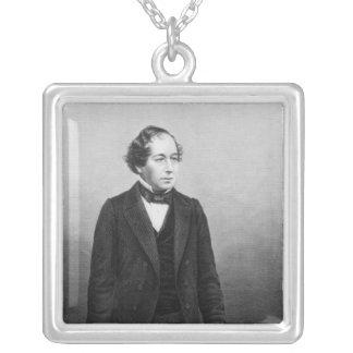 Benjamin Disraeli Square Pendant Necklace