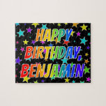 "[ Thumbnail: ""Benjamin"" First Name, Fun ""Happy Birthday"" Jigsaw Puzzle ]"