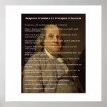 Benjamin Franklin 13 Principles of Success Poster