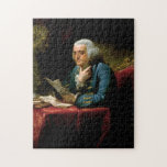 Benjamin Franklin - 1767 Painting by David Martin Puzzle
