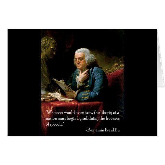 Benjamin_Franklin_1767 quote on speech Card