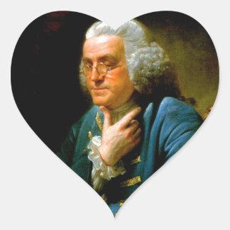 benjamin franklin 1767 writer natural scientists heart sticker