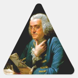 benjamin franklin 1767 writer natural scientists triangle sticker