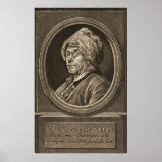 Benjamin Franklin 1780 Poster