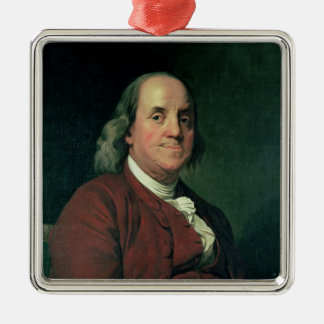 Benjamin Franklin, 1782 Metal Ornament