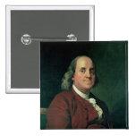 Benjamin Franklin, 1782 Pin Cuadrado