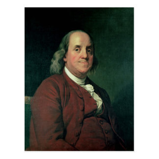 Benjamin Franklin, 1782 Postcard
