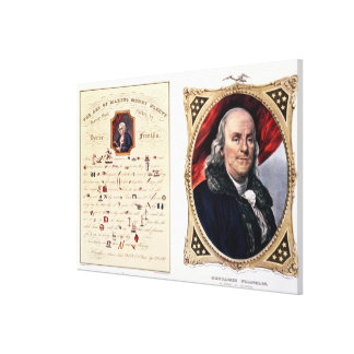Benjamin Franklin  1847 Canvas Print