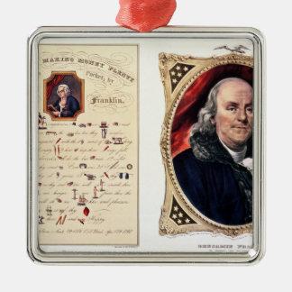 Benjamin Franklin  1847 Christmas Ornaments