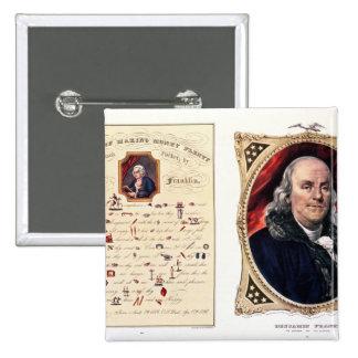 Benjamin Franklin 1847 Pins