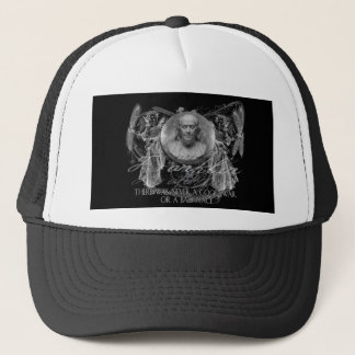 Benjamin Franklin, a Hero, on War and Peace Trucker Hat