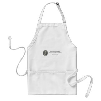 Benjamin Franklin - America Germany quote USA Adult Apron