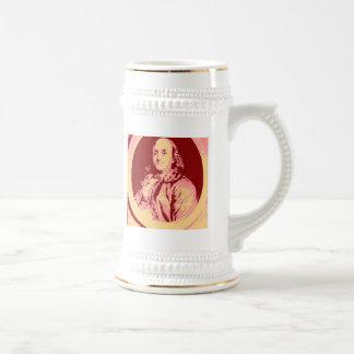 Benjamin Franklin Beer Stein