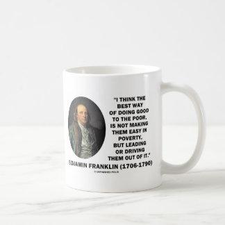 Benjamin Franklin Best Way Of Doing Good Poor Coffee Mug
