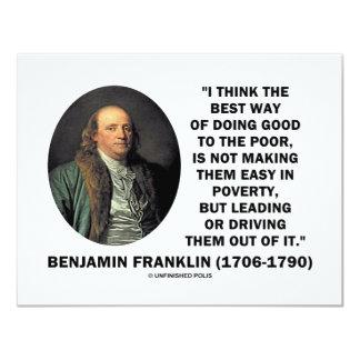 """Benjamin Franklin Best Way Of Doing Good Poor 4.25"""" X 5.5"""" Invitation Card"""