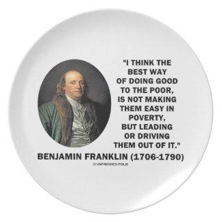 Benjamin Franklin Best Way Of Doing Good Poor Plate