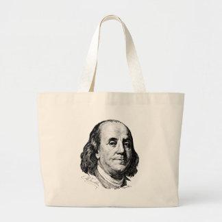Benjamin Franklin Bolsa De Tela Grande