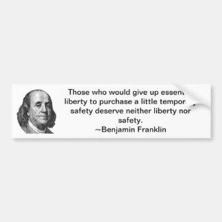 Benjamin Franklin- Bumper Sticker