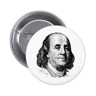 Benjamin Franklin 2 Inch Round Button