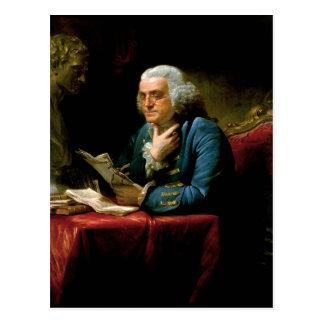 Benjamin Franklin by David Martin done in 1767 Postcard