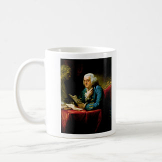 Benjamin Franklin by David Martin Classic White Coffee Mug
