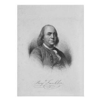 BENJAMIN FRANKLIN by Henry Bryan Hall Poster
