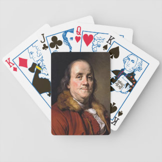 Benjamin Franklin by Joseph Duplessis, Circa 1778 Bicycle Playing Cards