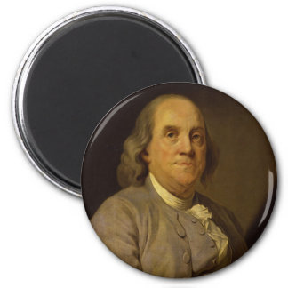 Benjamin Franklin by Joseph-Siffred Duplessis 2 Inch Round Magnet