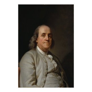 BENJAMIN FRANKLIN by Joseph Siffred Duplessis Posters