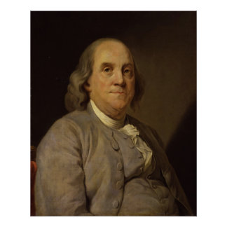 BENJAMIN FRANKLIN by Joseph-Siffred Duplessis Poster